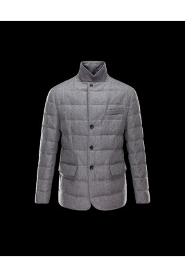 2017 New Style Moncler Leisure Mens Down Jackets Single Breasted Grey