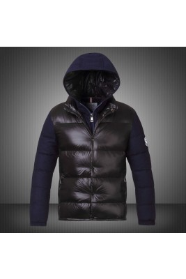 2017 New Style Moncler Leisure Mens Down Jackets Single Breasted Black