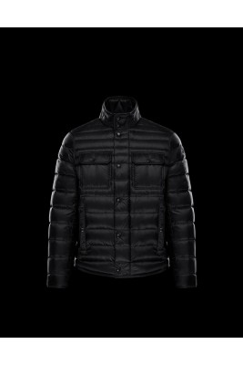 2017 New Style Moncler Gregoire Down Jackets For Men Button Black