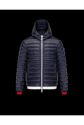 2017 New Style Moncler Bataillouse Men Down Jackets Zip Blue