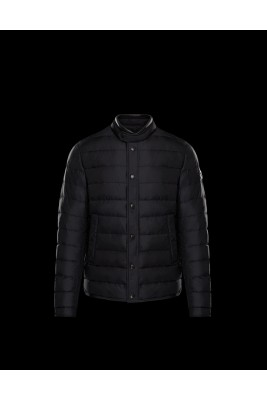 2017 New Style Moncler Bataillouse Men Down Jackets Single Breasted Black