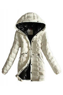 Moncler Coats Women Breasted Pure Color White