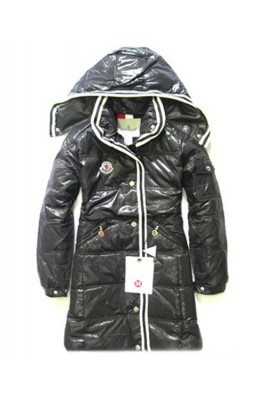 Moncler Featured Down Coats Womens With Hood Zip Black