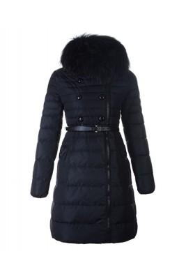 Moncler Herisson Fashion Coat Womens Long Black