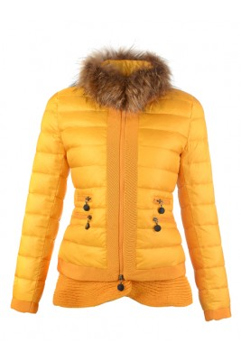 2016 Fashion Moncler Jackets Womens Outlet Yellow