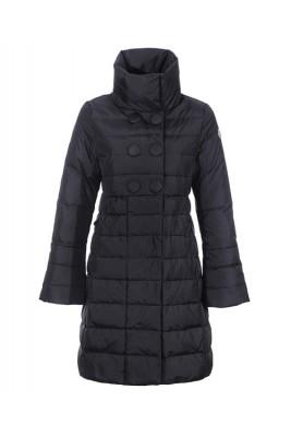Moncler Johanna Coats Down Women Black Stand Collar