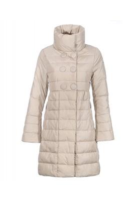 Moncler Johanna Coats Down Women white Stand Collar