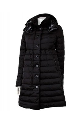 Moncler Jura Womens Down Coats Single Breasted Hooded Black