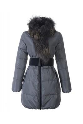 Moncler Lievre Womens Coat Designer Long Gray