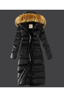 2016 Moncler Down Coat Featured Women Slim Windproof Black