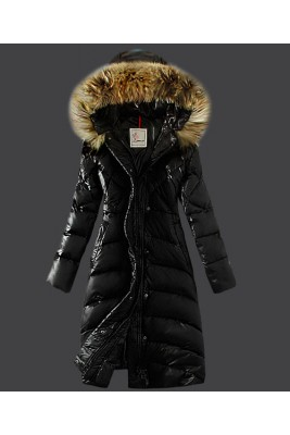 2016 Moncler Down Coat Women Hooded Windproof Black
