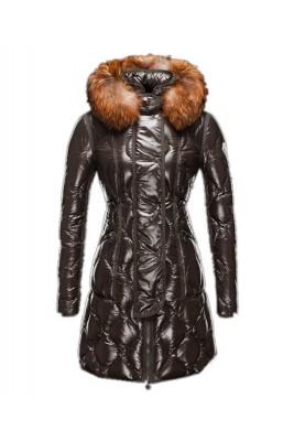 Moncler Lontre Designer Coat For Women Dark Green