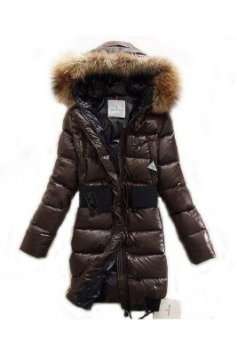 Moncler LUCIE New Women Pop Star Brown Coat Down