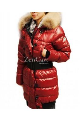 Moncler LUCIE New Women Pop Star Dark Red Coat Down