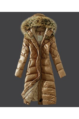 2016 Moncler Down Coat Women Hooded Windproof Light Tan