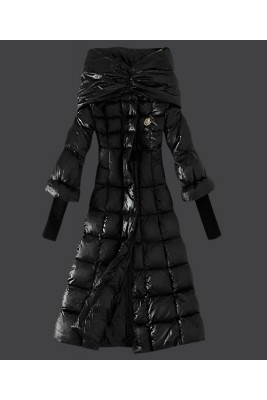 2016 Moncler Down Coat Women Stand Collar Slim Black
