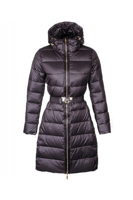 Moncler Nantes Classic Hot Sell Women Coat Zip Hooded Coffee
