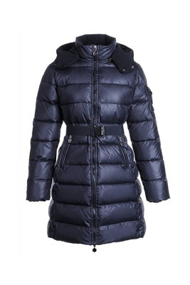 Moncler Nantes Classic Hot Sell Women Coat Zip Hooded Navy Blue