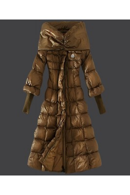 2016 Moncler Down Coat Women Stand Collar Slim Green Card