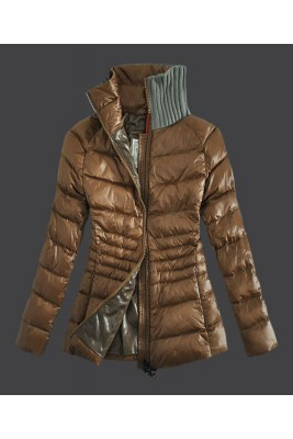 2016 Moncler Down Jackets For Womens Zip Stand Collar Ligh