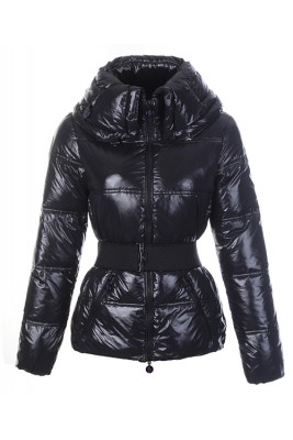Moncler Aliso Designer Womens Down Jackets With Belt Black
