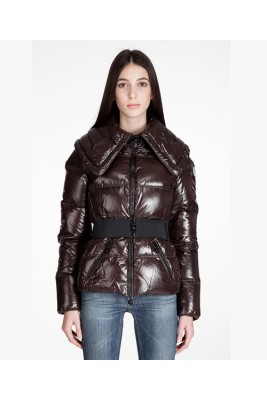 Moncler Aliso Designer Womens Down Jackets With Belt Coffee