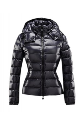 Moncler Bady Winter Women Down Jacket Zip Hooded Navy Blue