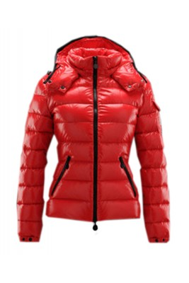 Moncler Bady Winter Women Down Jacket Zip Hooded Red