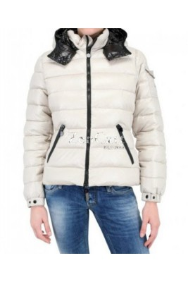 Moncler Bady Winter Women Down Jacket Zip Hooded White