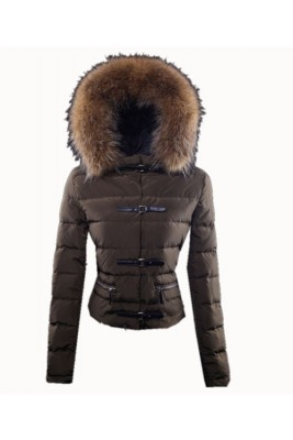 Moncler Crecerelle Top Quality Down Jacket Women Coffee