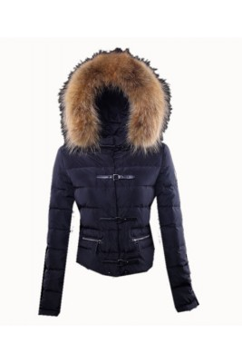 Moncler Crecerelle Top Quality Down Jacket Women Dark Blue