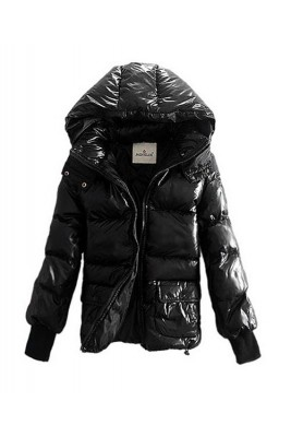 Moncler Down Jackets Women Rib Long Sleeve Shirt Black