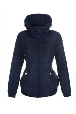 Moncler Epine Jackets For Womens Windproof Collar Dark Blue