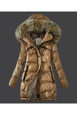2016 Moncler Euramerican Style Down Coats Womens Light Tan