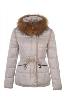 Moncler Fashion Women Jacket Down Short Apricot