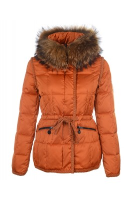 Moncler Fashion Women Jacket Down Short Orange