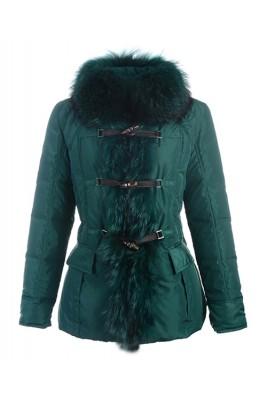 Moncler Grillon Fashion Jackets Women Down Green