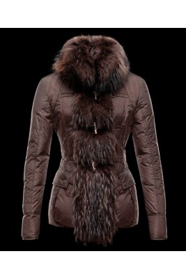 Moncler Grillon Fashion Women Down Jackets Brown