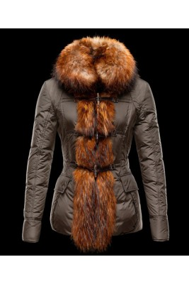 Moncler Grillon Fashion Women Down Jackets Coffee
