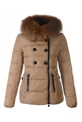 Moncler Herisson Fashion Womens Jacket Short Khaki