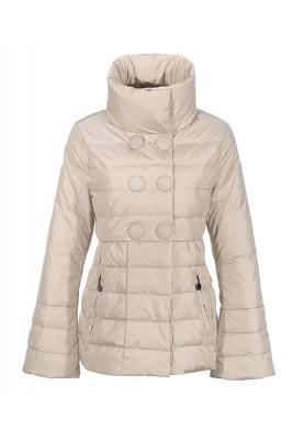 Moncler Johanna Featured Jackets Women Slim Stand Collar White