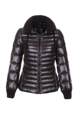 Moncler Lierre Top Quality Women Jackets Sweater Collar Brown