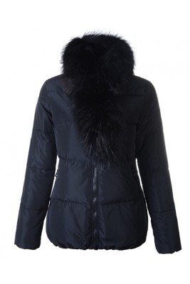 Moncler Lievre Classic Women Down Jackets Black Short