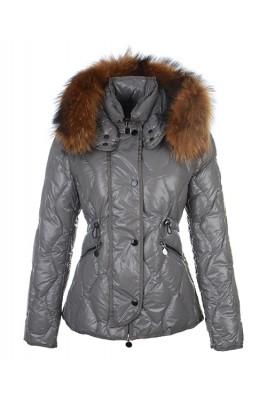 Moncler Lontre Fashion For Women Down Jacket Gray