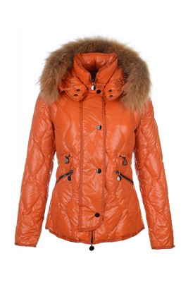 Moncler Lontre Fashion For Women Down Jacket Orange
