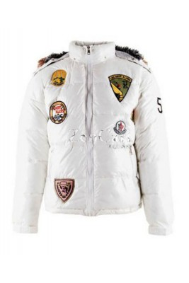 Moncler Multiple Logo Women Jackets Detachable Cap White