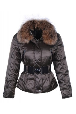 Moncler Popular Down Jackets For Women Decorative Belt Coffee