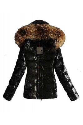 Moncler Popular Women Down Jacket Hat Double Zip Black
