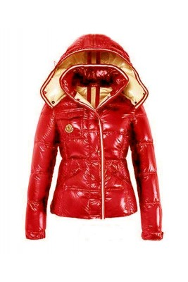 Moncler Quincy Classic Down Jackets For Women Button Red