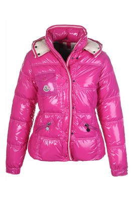Moncler Quincy Down Jacket For Women Button Pink Short